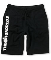 The Hundreds Juniper Black Sweat Shorts