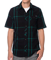 The Hundreds Lemieux Black Short Sleeve Flannel Shirt