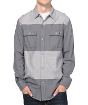 The Hundreds Lowell Charcoal Long Sleeve Flannel Shirt