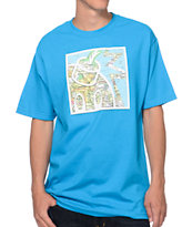 The Hundreds Map Adam Turquoise Tee Shirt