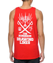 The Hundreds Mashup Red Tank Top