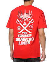 The Hundreds Mashup Red Tee Shirt