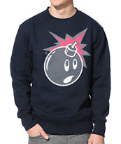 The Hundreds Muted Adam Navy Crew Neck Sweatshirt