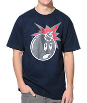 The Hundreds Muted Adam Navy Tee Shirt