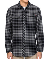 The Hundreds Packard Black Plaid Long Sleeve Flannel Shirt