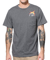 The Hundreds Peeka Tree Grey Pocket Tee Shirt