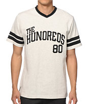 The Hundreds Penn Grey V-Neck Tee