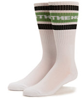 The Hundreds Physical White & Green Crew Socks