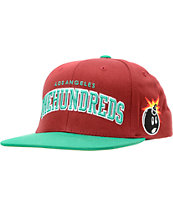 The Hundreds Player Maroon Snapback Hat
