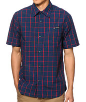 The Hundreds Post Plaid Button Up Shirt