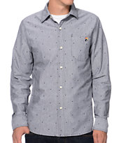 The Hundreds Pulp Print Black Long Sleeve Button Up Shirt