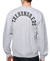 The Hundreds Raided Heather Grey Crew Neck Sweatshirt