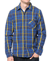 The Hundreds Ranger Navy & Yellow Plaid Flannel