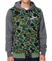 The Hundreds Raphael Camo Varsity Hooded Jacket