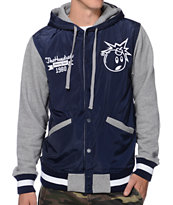 The Hundreds Reloaded Navy Varsity Hooded Jacket