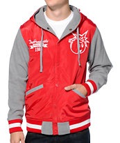 The Hundreds Reloaded Red Varsity Jacket