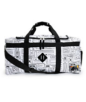 The Hundreds Retreat White Geo Print Duffle Bag