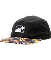 The Hundreds Seyer Black 5 Panel Hat