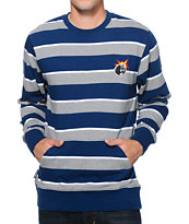 The Hundreds Spicy Navy Stripe Long Sleeve Shirt