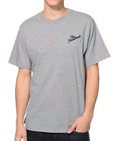 The Hundreds Stacey Splatter Grey Tee Shirt