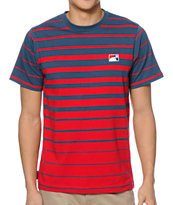 The Hundreds Sunkist Red & Blue Striped Tee Shirt