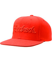 The Hundreds Team Two Tonal Red Snapback Hat