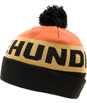 The Hundreds Toasty Orange Pom Fold Beanie