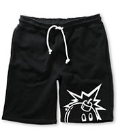 The Hundreds Trinity Black Sweat Shorts