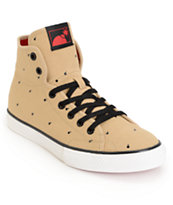 The Hundreds Valenzuela High Polkabomb Khaki & Black Skate Shoe