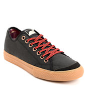 The Hundreds Valenzuela Low Black Waxed Canvas Skate Shoe
