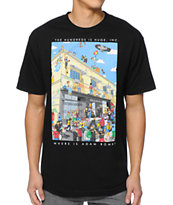 The Hundreds Where's Adam Black Tee Shirt