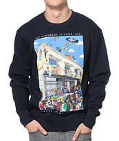 The Hundreds Where's Adam Navy Crew Neck Sweatshirt