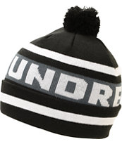 The Hundreds Win Black Pom Fold Beanie