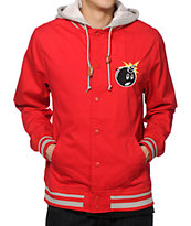 The Hundreds Yosemite Red Varsity Jacket