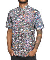 The Hundreds Zapis Printed Button Up Shirt