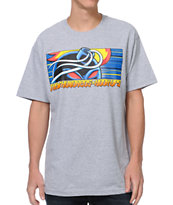 The Hundreds x Hook-Ups Adam Red Eyes Grey Tee Shirt
