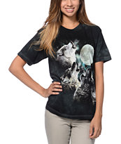 The Mountain 3 Wolf Moon Black Boyfriend Fit Tee Shirt