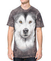 The Mountain Alaskan Malamute Charcoal Tie Dye Tee Shirt