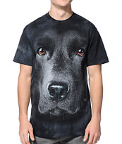 The Mountain Black Lab Black Tie Dye Tee Shirt