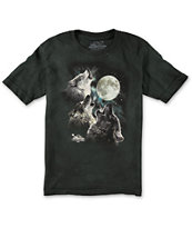The Mountain Boys Three Wolf Moon Glow Tee Shirt