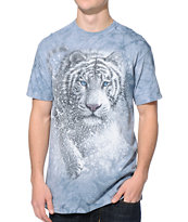 The Mountain Cascade Tiger Blue Tie Dye Tee Shirt