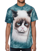 The Mountain Grumpy Cat Teal Tee Shirt