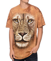 The Mountain Lion Warrior Beige Tie Dye Tee Shirt