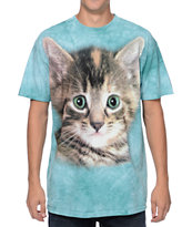 The Mountain Tyler Kitten Teal Tie Dye Tee Shirt
