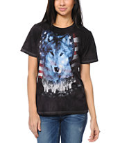 The Mountain Women's Wolves Of America Black Boyfriend Tee Shirt