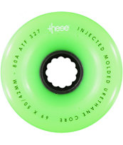 These Green ATF  69mm 80A 327 Longboard Wheels