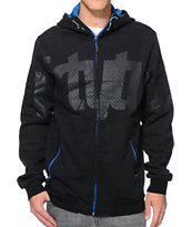 Thirtytwo Reppin Black Zip Up Tech Fleece Jacket