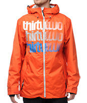 Thirtytwo Shakedown Orange 10K Snowboard Jacket 2013