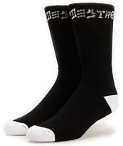 Thrasher 2 Pack 1 White Pair & 1 Black Pair Skate & Destroy Crew Socks