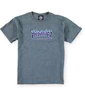 Thrasher Boys Flame Logo Purp T-Shirt
